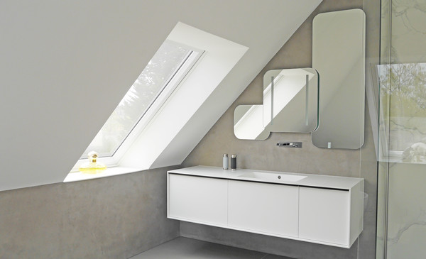 Washstand made of solid surface material - Photo: Hammer Margrander Interior