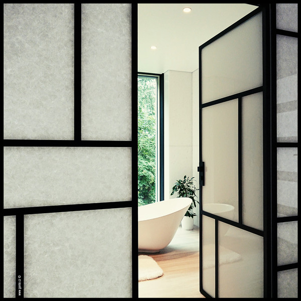 Partition wall made of glass ceramic - Photo: Design and technical solution by Gente.cz