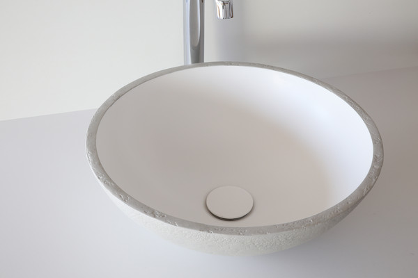 lavanto® Rotondo basin made of solid surface material with synergy3D concrete-coating - Photo: Loosli