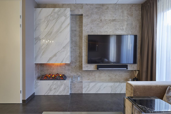 Wall cladding made of porcelain ceramic - Photo: NEOLITH®