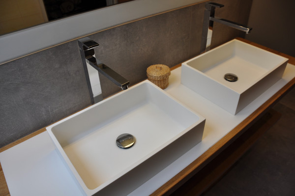 lavanto® Averno countertop basin made of solid surface material